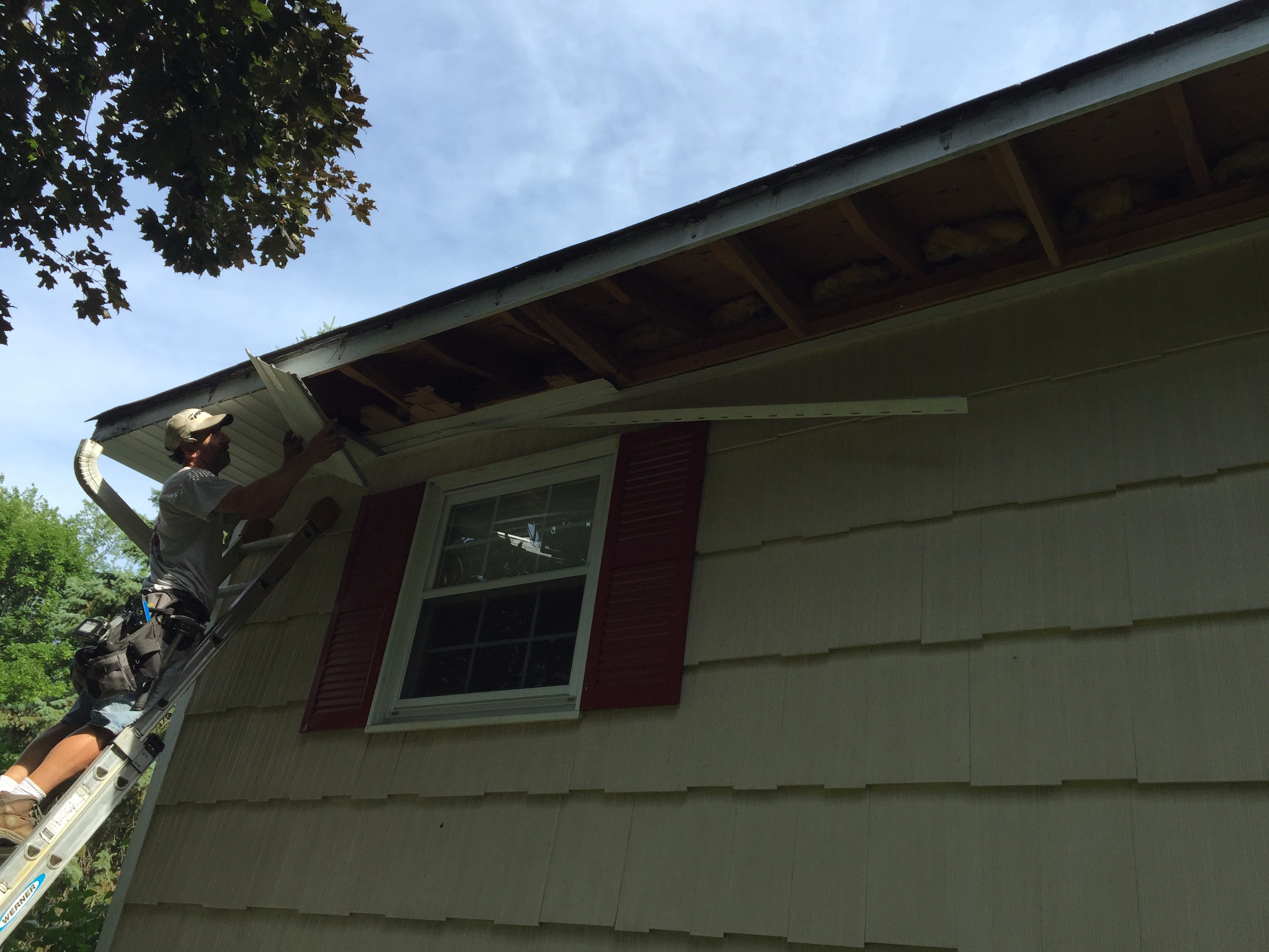 New Vinyl Soffit Installation