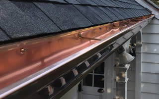 Copper Gutter Installation And Replacement